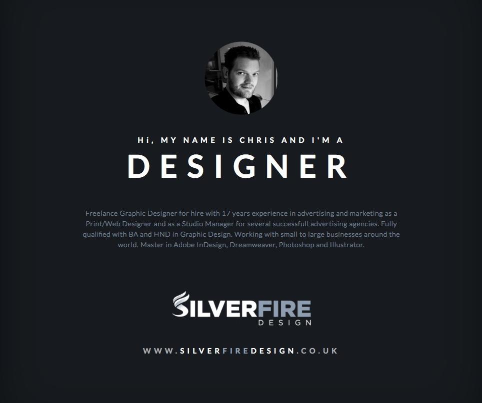 Chris Aldridge I SilverFire Design I Graphic Designer
